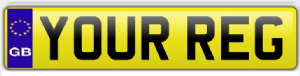 Rear Number/Registration Plate With GB Badge